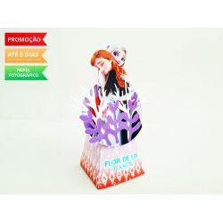 Caixa pirâmide Frozen 2 - Elza e Anna