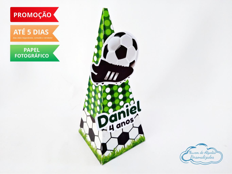Nuvem de algodão personalizados - Caixa pirâmide Futebol