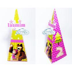 Caixa pirâmide Masha e o Urso
