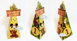Caixa pirâmide Mickey Safari