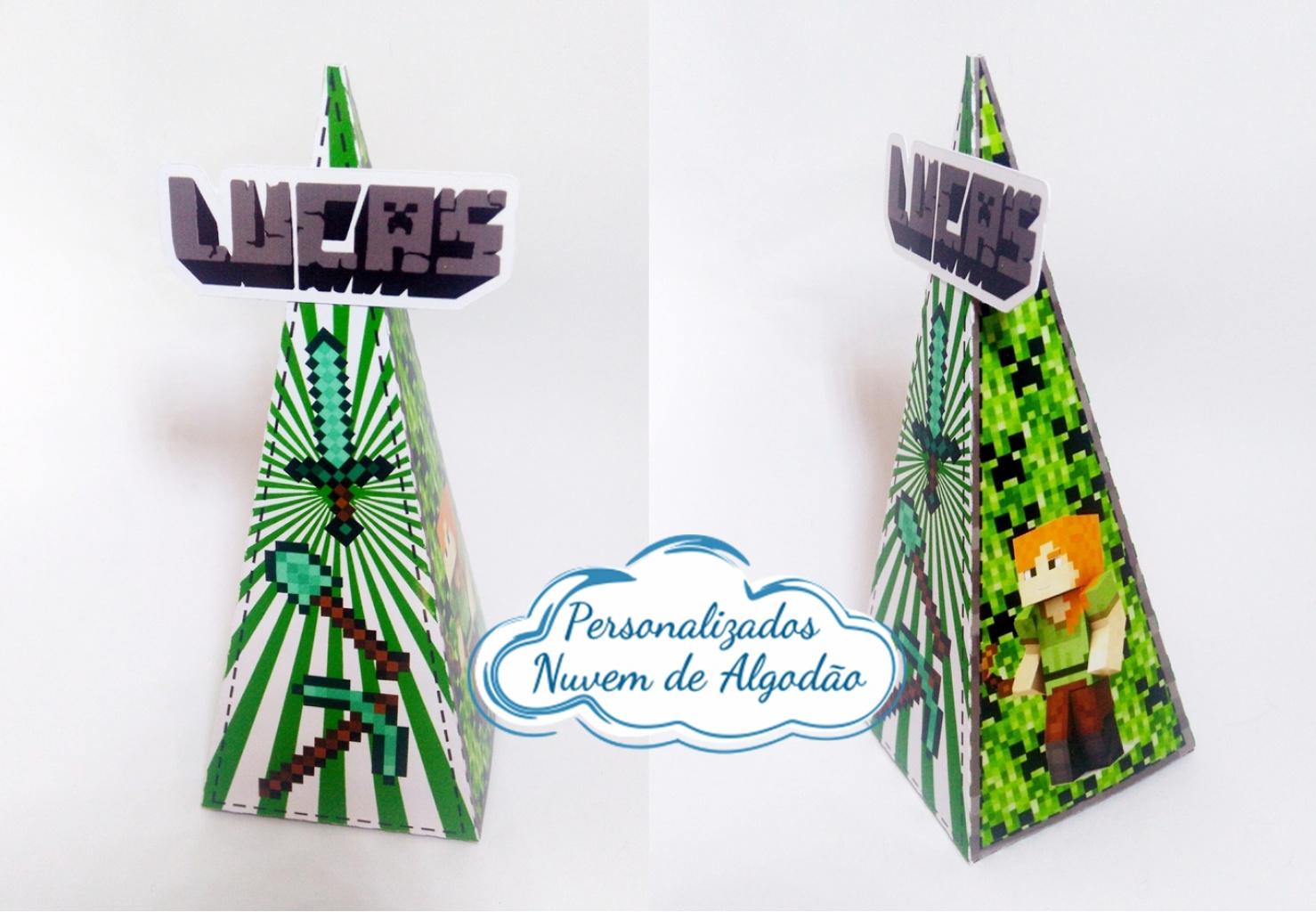 Nuvem de algodão personalizados - Caixa pirâmide Minecraft