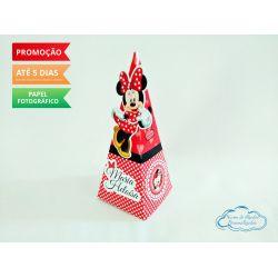 Caixa pirâmide Minnie Vermelha
