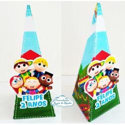 Caixa pirâmide Os Pequerruchos