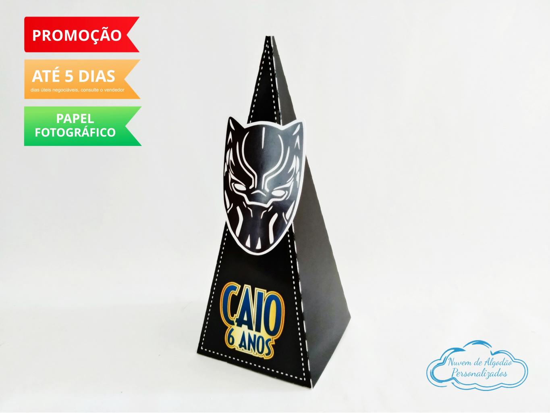 Nuvem de algodão personalizados - Caixa pirâmide Pantera Negra