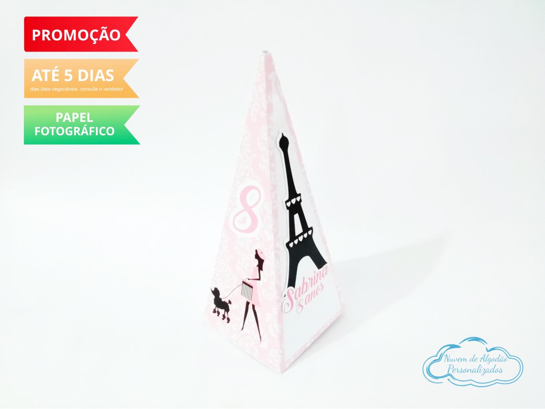 Nuvem de algodão personalizados - Caixa pirâmide Paris