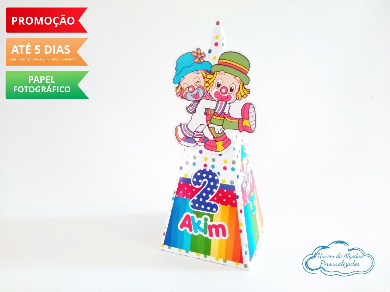 Nuvem de algodão personalizados - Caixa pirâmide Patati Patatá