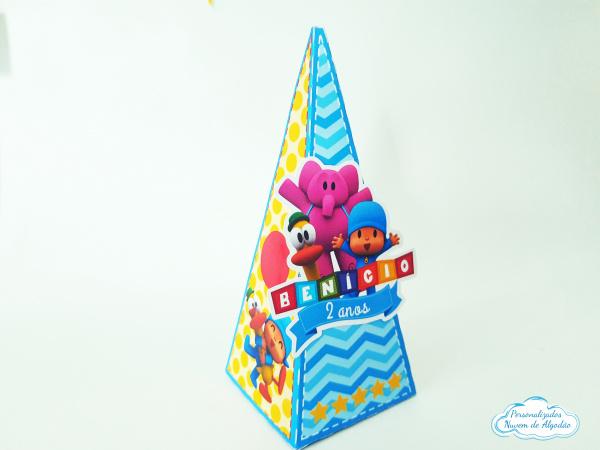 Caixa pirâmide Pocoyo-Caixa pirâmide Pocoyo  Fazemos em qualquer tema. Envie nome e idade para personalização.  -