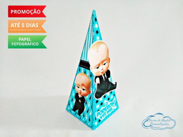 Caixa pirâmide Poderoso Chefinho-Caixa pirâmide Poderoso Chefinho com aplique. Fazemos em qualquer tema. Envie nome e idade para p