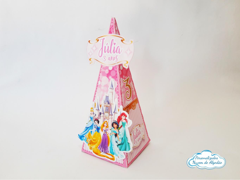 Nuvem de algodão personalizados - Caixa pirâmide Princesas