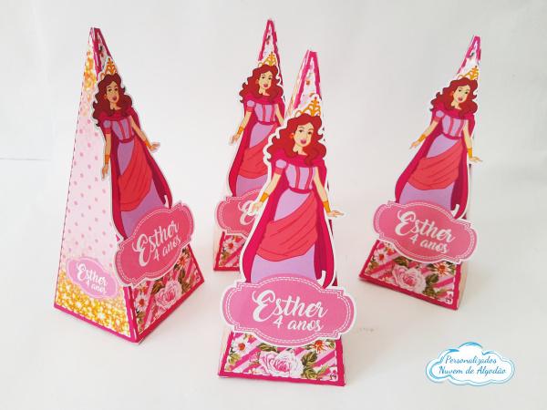 Caixa pirâmide Rainha Ester - Princesas da Bíblia-Caixa pirâmide Rainha Ester - Princesas da Bíblia  Fazemos em qualquer tema. Envie nome e idade