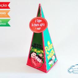 Caixa pirâmide Show da luna - melancia