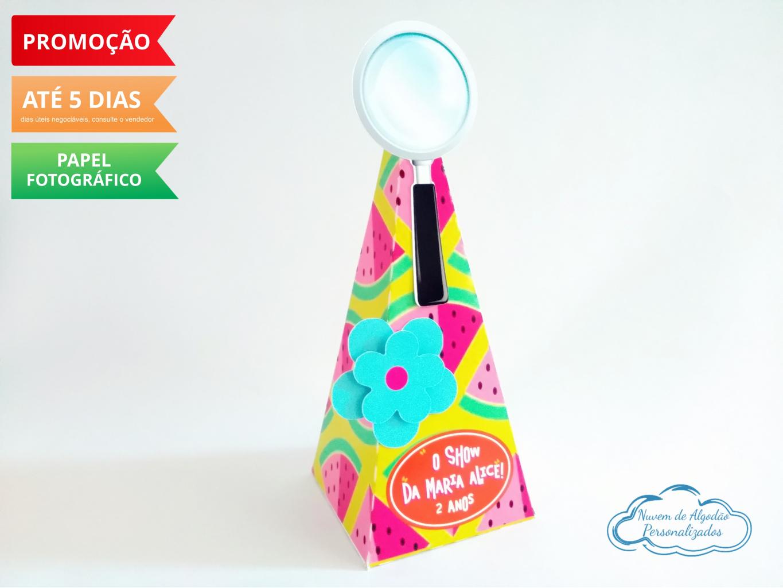 Nuvem de algodão personalizados - Caixa pirâmide Show da luna - lupa
