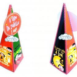 Caixa pirâmide Show da luna - Lua