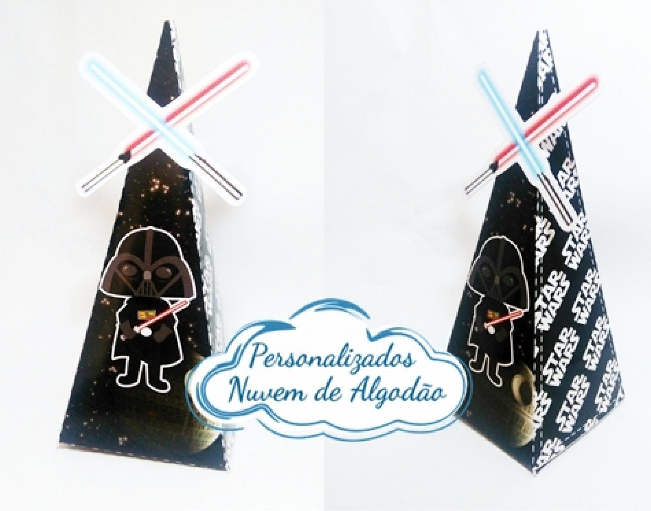 Nuvem de algodão personalizados - Caixa pirâmide Star Wars