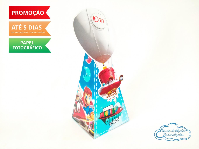 Nuvem de algodão personalizados - Caixa pirâmide Super Mario Odyssey