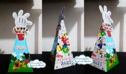 Caixa pirâmide Turma do Mickey