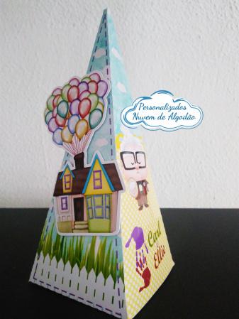 Caixa pirâmide Up altas aventuras-Caixa pirâmide Up altas aventuras  Fazemos em qualquer tema. Envie nome e idade para personaliza