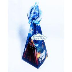 Caixa pirâmide Vingadores