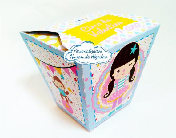 Caixa sushi Circo rosa-Caixa Sushi Circo rosa Fazemos em qualquer tema. Envie nome e idade para personalização.  - Pr