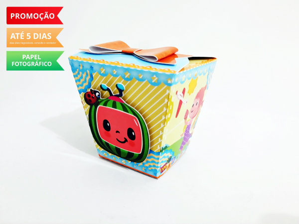 Caixa sushi Cocomelon laço-Caixa Sushi Cocomelon laço  Fazemos em qualquer tema. Envie nome e idade para personalização.
