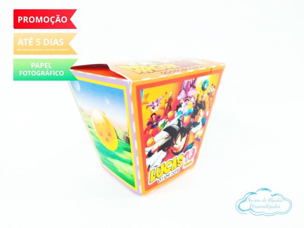 Caixa sushi Dragon Ball Z-Caixa Sushi Dragon Ball Z Fazemos em qualquer tema. Envie nome e idade para personalização.  -