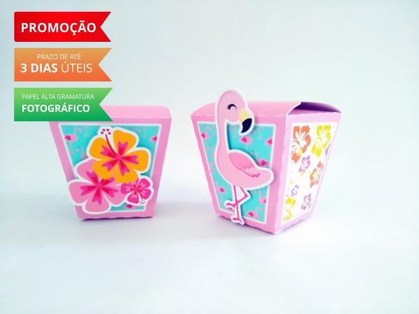 Caixa sushi Flamingo e Abacaxi-Caixa Sushi Flamingo e Abacaxi Fazemos em qualquer tema. Envie nome e idade para personalização.