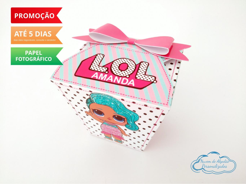 Nuvem de algodão personalizados - Caixa sushi Lol Surprise laço