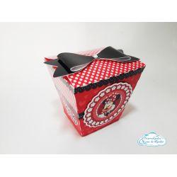 Caixa Sushi Minnie Vermelha laço