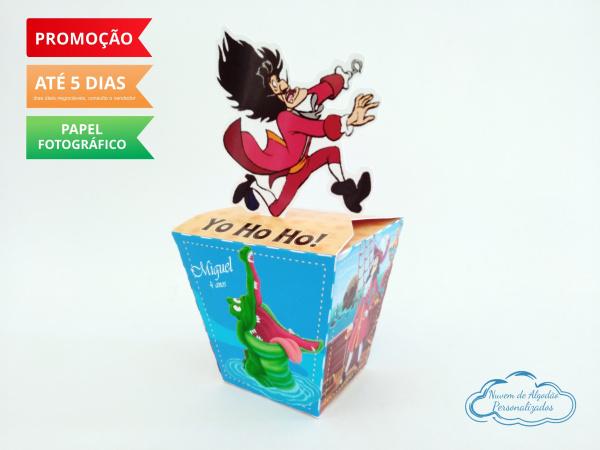 Caixa sushi Peter Pan Capitão Gancho-Caixa Sushi Peter Pan Capitão Gancho Fazemos em qualquer tema. Envie nome e idade para personaliz