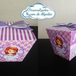 Caixa sushi Princesa Sofia laço