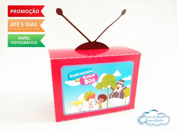 Caixa televisão Mundo Bita-Caixa televisão Mundo Bita Fazemos em qualquer tema. Envie nome e idade para personalização.