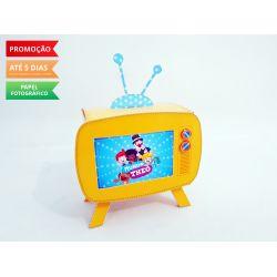 Caixa televisão vintage Mundo Bita