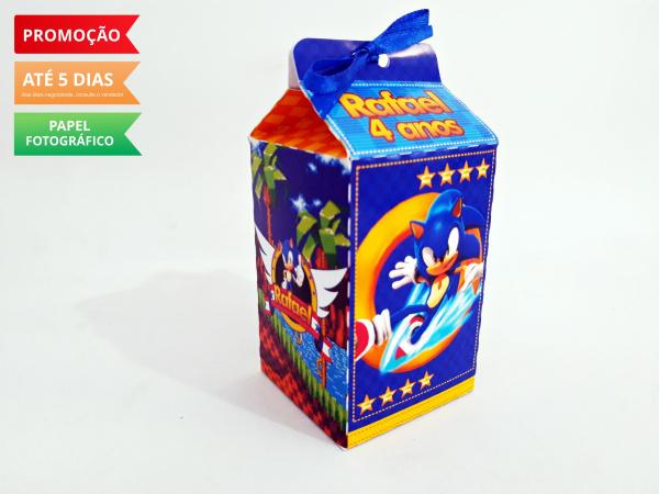 Caixa milk Sonic-Caixa milk Sonic Fazemos em qualquer tema. Envie nome e idade para personalização.  - Produto
