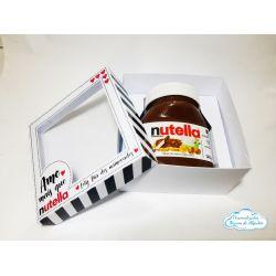 Caixa para Nutella com visor - dia dos namorados