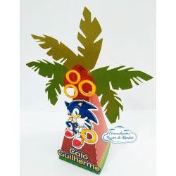 Caixa pirâmide coqueiro Sonic