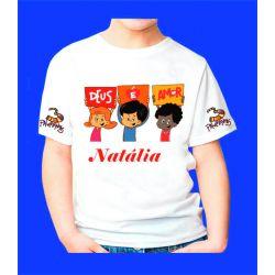 Camiseta 3 Palavrinhas  Personalizada