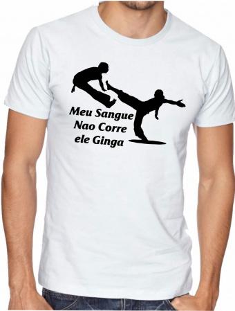 Camiseta Capoira Gingado-Sejam bem vindo em nossa loja será um prazer antende-lo(a) Nossas estampas são impressas com o ma