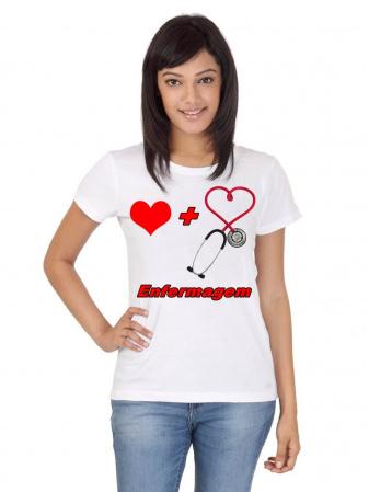 Camiseta Enfermagem curso branca uniforme-Camiseta Enfermagem curso branca uniforme Descrição Um produto especial para um cliente especial