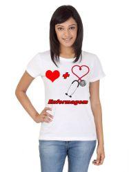 Camiseta Enfermagem curso branca uniforme