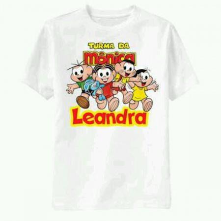 Camiseta Turma da Monica Personalizada-Sejá benvindo em nossa loja será um prazer antende-lo(a) Podemos colocar o nome da família nas b