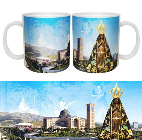 Caneca  Nossa Senhora Aparecida-Caneca  Nossa Senhora Aparecida    Caneca personalizada de porcelana de alto brilho, interior br