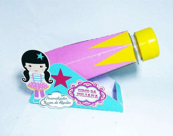 Canhão para tubete Circo Rosa-Canhão para tubete Circo Rosa  Para tubete de 13cm Fazemos todos os temas e cores.  Na hora do