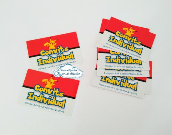 Convite individual Pokemon-Convite individual Pokemon   Fazemos todos os temas  Na hora do seu pedido informe os dados para