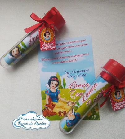 Convite tubete Branca de Neve-Convite tubete Branca de Neve  Fazemos em qualquer tema.  - Papel fotográfico glossy 230g - Pr