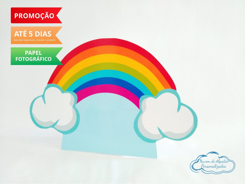 Nuvem de algodão personalizados - Display de mesa Arco Íris 27cm