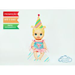 Display de mesa Baby Alive 27cm - Boneca loira