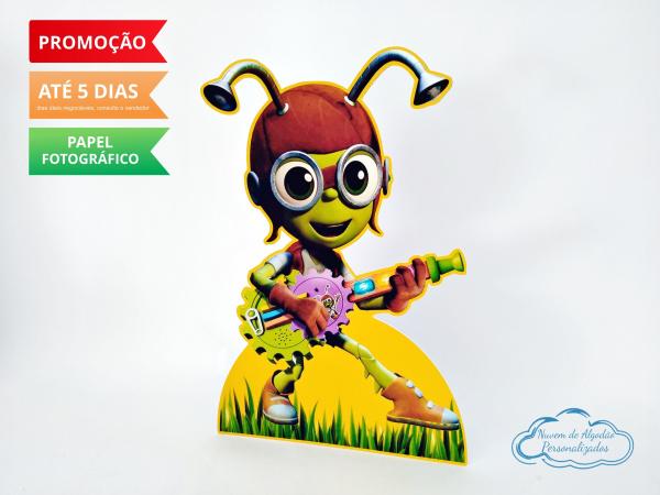 Display de mesa Beat bugs 27cm - Crick-Display de mesa Beat bugs 27cm - Crick Largura varia de acordo com a imagem.  - Possui pé de apo