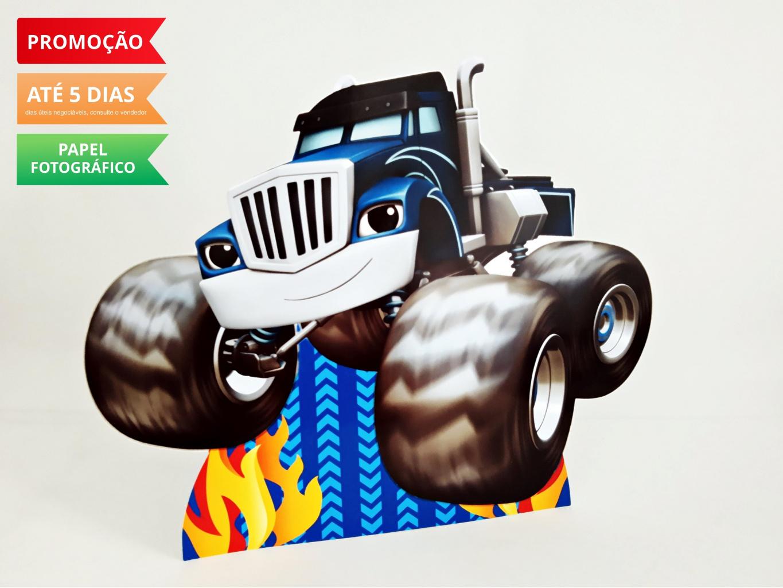 Nuvem de algodão personalizados - Display de mesa Blaze and the monster machine 27cm - Caminhão
