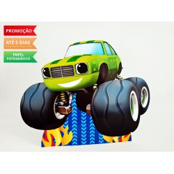 Display de mesa Blaze and the monster machine 27cm - Carro verde