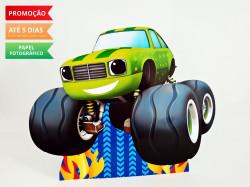 Display de mesa Blaze and the monster machine 27cm - Carro verde